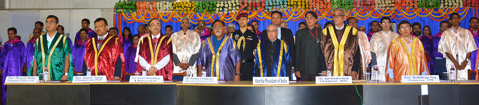 Hon'ble President of India and other dignitaries - 52nd Annual Convocation 2017