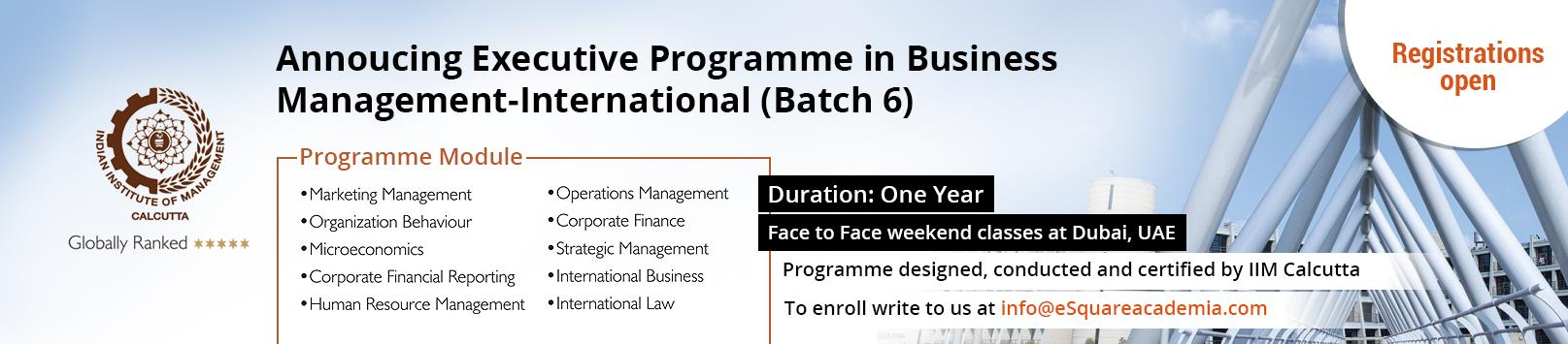 iim calcutta launches the sixth batch of the executive programme in business management international