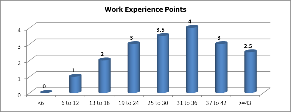 work experience points